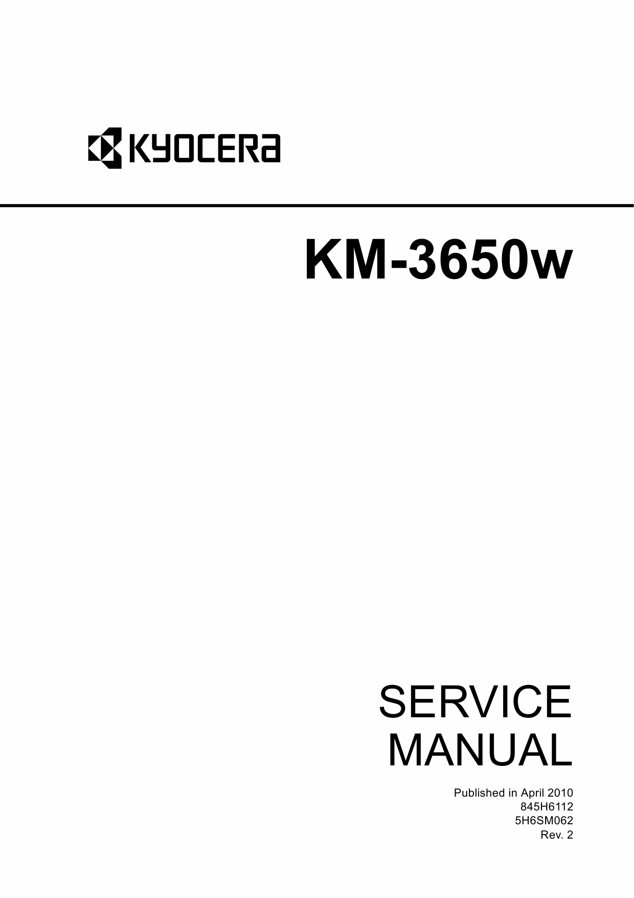 KYOCERA WideFormat KM-3650w Service Manual-1